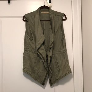 Cute army green vest